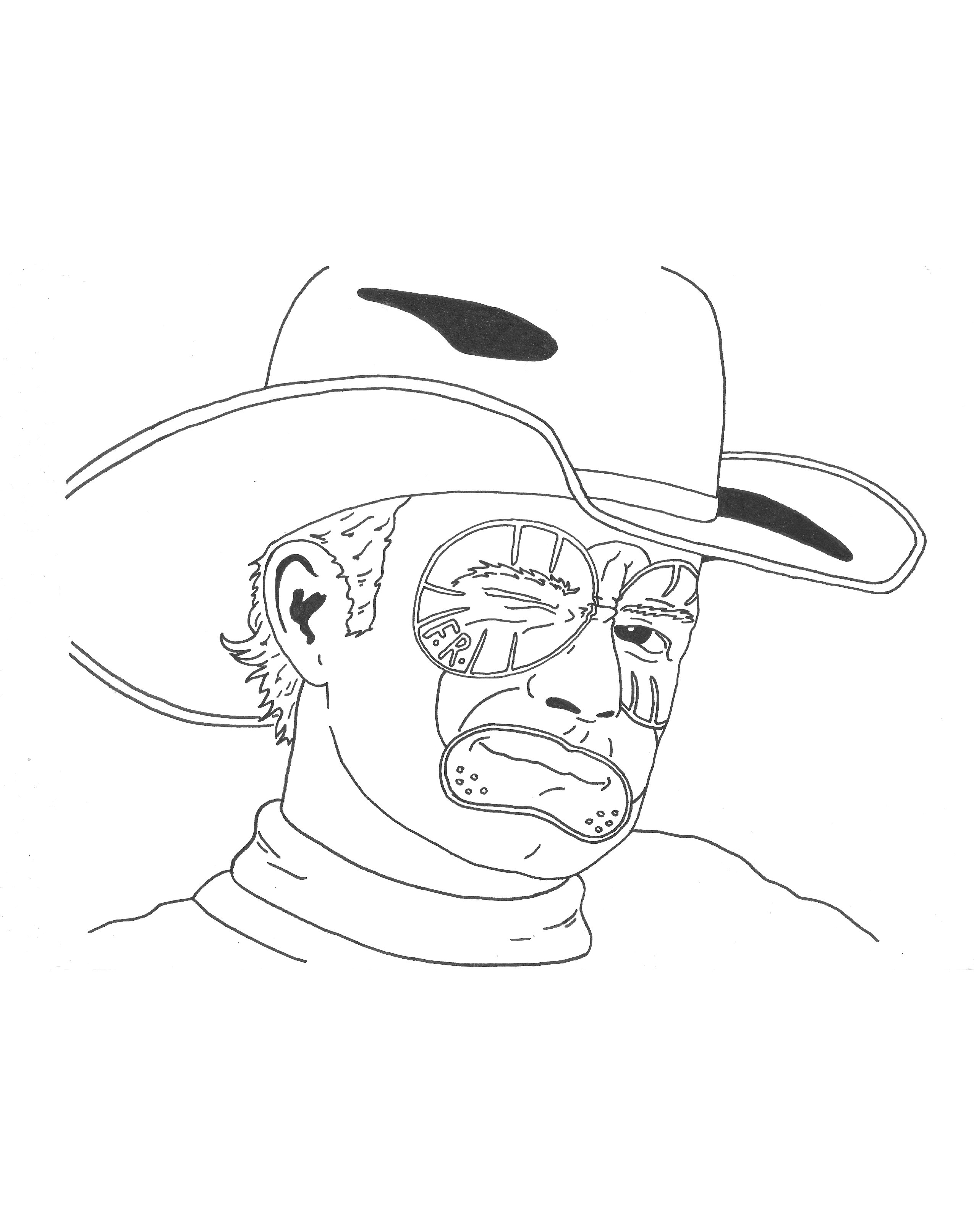 pbr bull coloring pages - photo#36